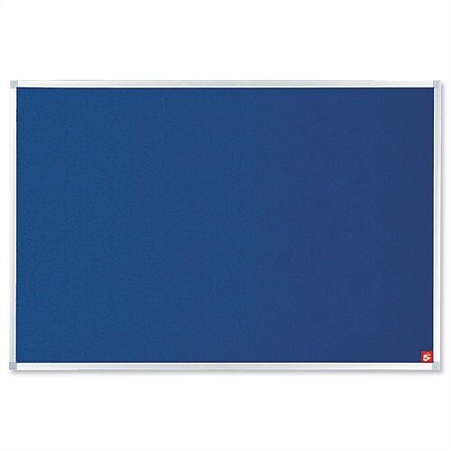 Blue Notice Board 1200 x 900mm Aluminium Trim with Fixings 5 Star