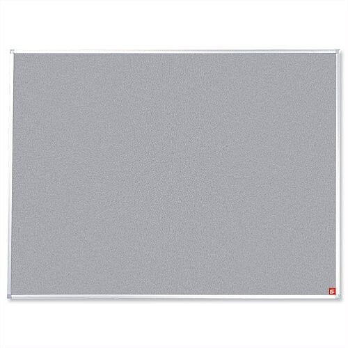 Grey Notice Board with Fixings and Aluminium Trim 1800 x 1200mm 5 Star