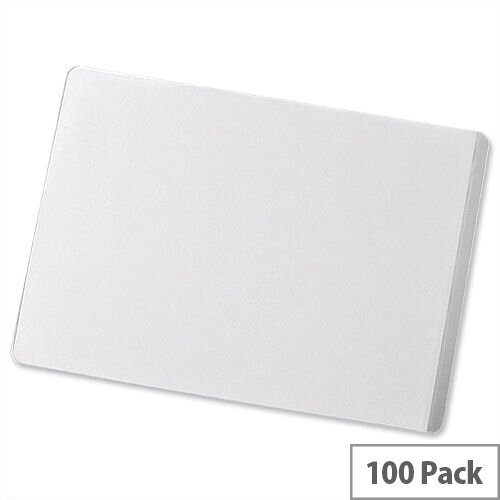Durable Seal-It 65x100mm Self Adhesive Laminating Pouch Pockets Pack 100