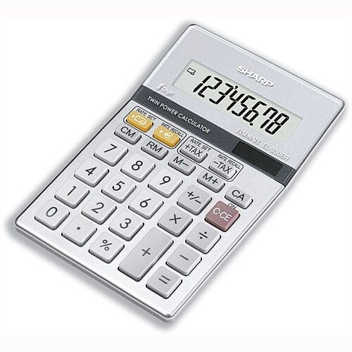 Sharp Desktop Calculator Euro Battery Solar-power EL330ERB