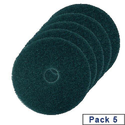 3M Economy Floor Pads 380mm Green Pack of 5 2NDGN15