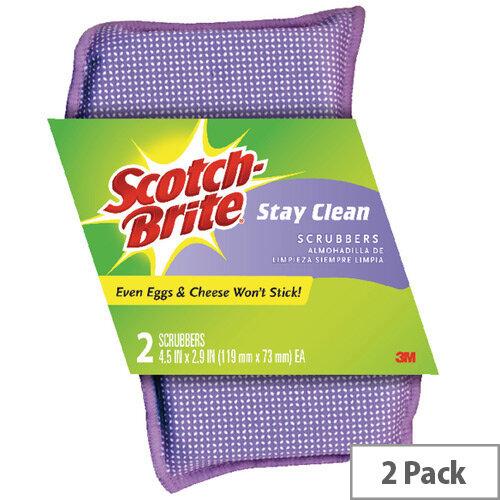 Scotch-Brite Stay Clean Scrubber Pack of 2