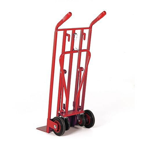 Heavy duty 3-in-1 sack truck Red Capacity 400kg With Rubber Wheels