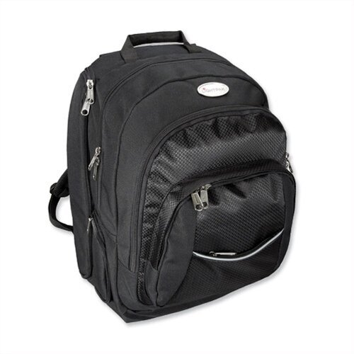 "Black Laptop Backpack with Detachable 17"" Laptop Sleeve Lightpak Advantage"