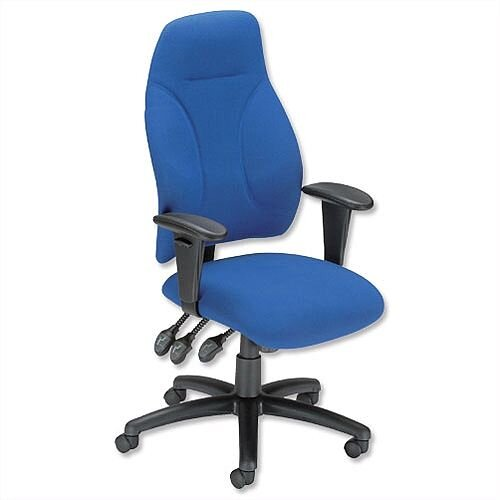 Esme Ergonomic Posture High Back Asynchronous Office Armchair Blue