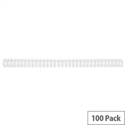 GBC Binding Wires 34 Loop 55 Sheets 6mm A4 White Pack 100