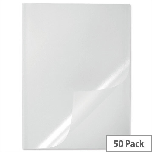 Durable Report Covers PVC Capacity 100 sheets A3 Folds to A4 Clear 2919/19 Pack 50