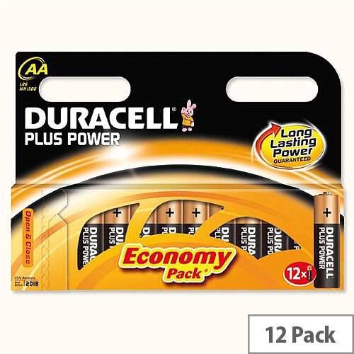 Duracell Plus Power 1.5V AA Alkaline Battery 81275378 Pack 12