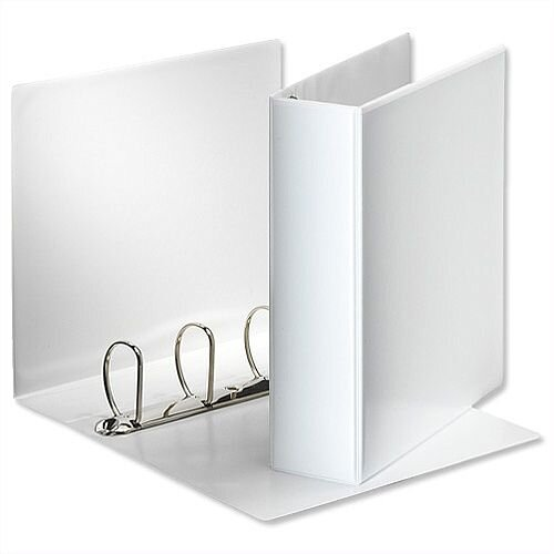 Esselte Presentation Ring Binder A4 White 65mm Size 4 D-Ring 600555/49706