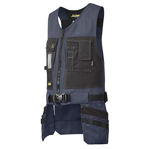 Snickers 4254 Toolvest, Canvas+ Size XS Navy/Black
