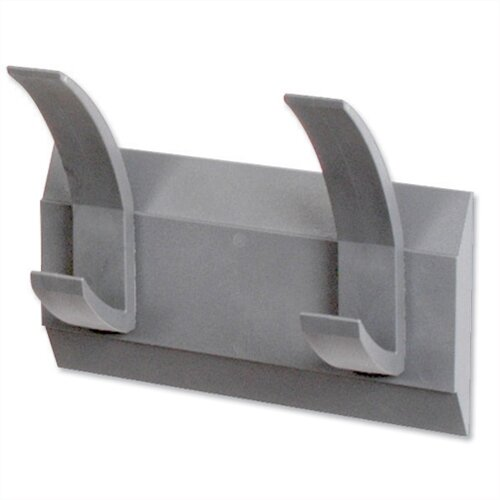 Acorn Linear Hat and Coat Wall Rack with Conclealed Fixings 2 Hooks Graphite 427662