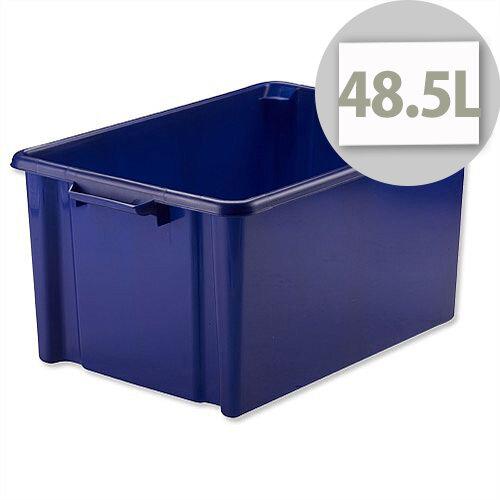 Strata Storemaster Jumbo Crate Blue 48.5 Litres