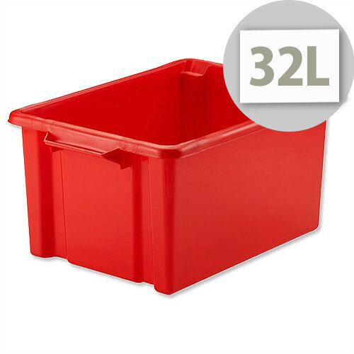 Strata Storemaster Maxi Crate Red 32 Litres