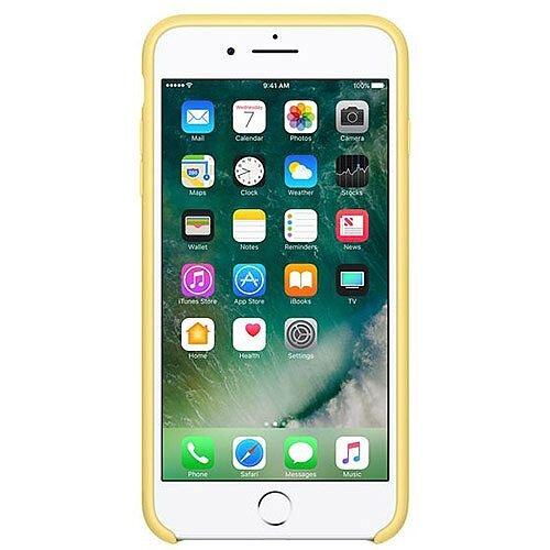 low priced b1c61 1f6f2 Apple Silicone Back Cover for iPhone 7 Plus Smartphone Pollen yellow