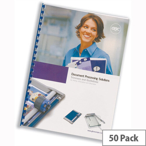 GBC Report Covers Leathergrain &Hiclear Combi Pack A4 White Pack 25x2