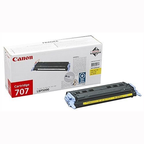 Canon 707 Yellow Toner Cartridge 9421A004 707Y