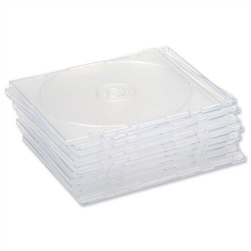CD Case Slimline Jewel for 1 Disk Clear Pack 50