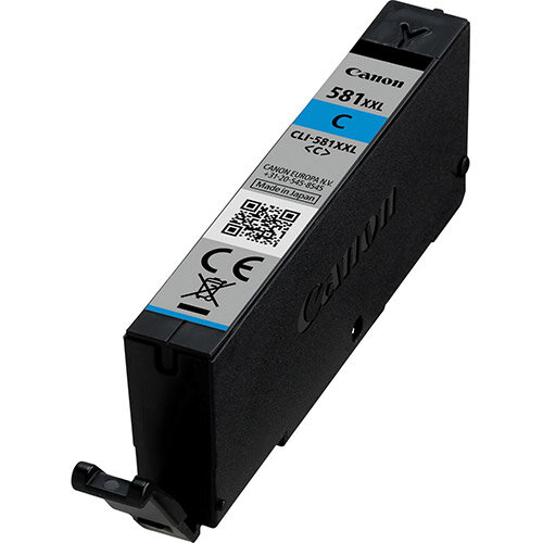Canon CLI-581C XXL - XXL size - cyan - original - ink tank - for PIXMA TR7550, TR8550, TS6150, TS6151, TS8150, TS8151, TS8152, TS9150, TS9155