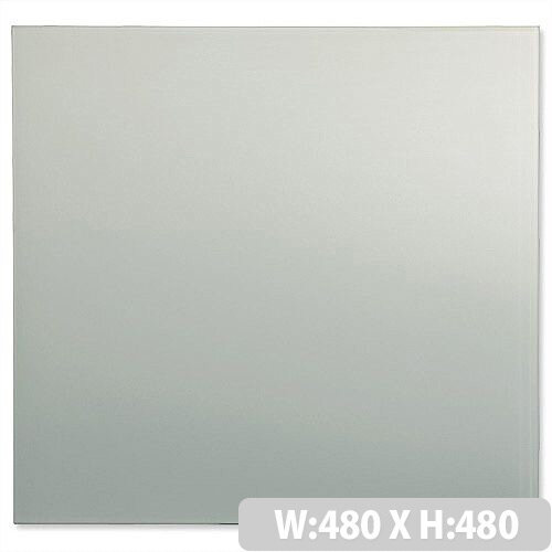 Sigel Artverum High Quality Tempered Glass Magnetic Whiteboard With Fixings 480x480 mm White Ref GL111