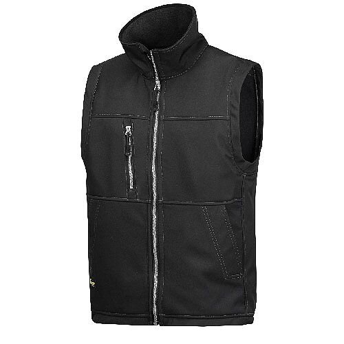 Snickers 4511 Profiling Soft Shell Vest Size L Regular Black