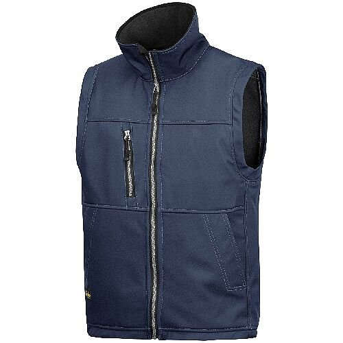 Snickers 4511 Profiling Soft Shell Vest Size L Regular Navy