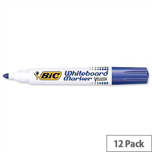 Bic Velleda 1701 Blue Whiteboard Marker Bullet Tip Pack 12