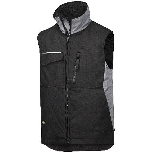 Snickers 4528 Craftsmen's Winter Vest Rip-stop Size M Regular Black/Grey