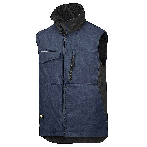 Snickers 4528 Craftsmen's Winter Vest Rip-stop Size L Regular Navy/Black