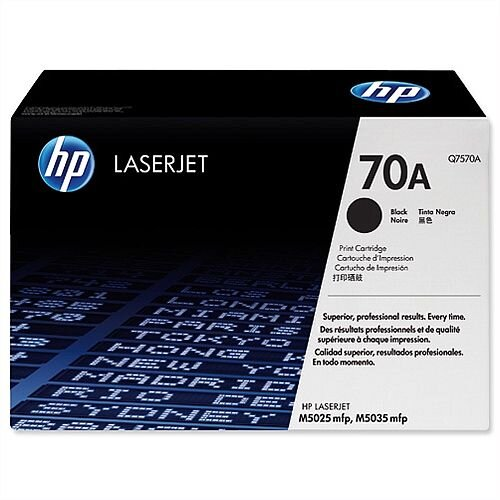HP 70A Black LaserJet Toner Cartridge Q7570A