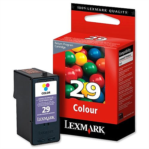 Lexmark 29 Colour Ink Cartridge 18C1429E