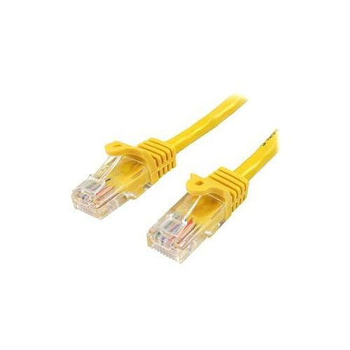 StarTech 5m Yellow Cat5e Patch Cable with Snagless RJ45 Connectors Long Ethernet Cable 5 m 45PAT5MYL