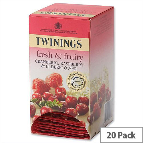 Twinings Infusion Tea Bags Cranberry and Raspberry Pack 20