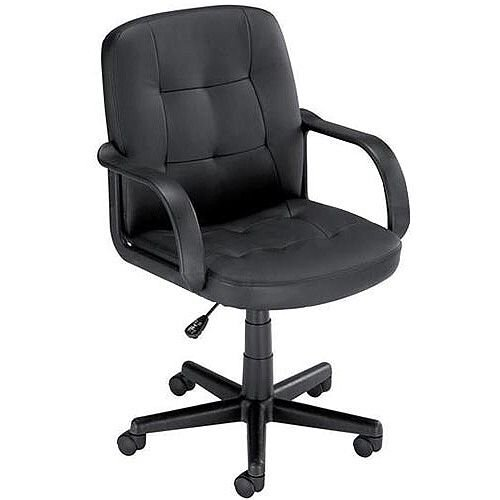 Influx Boss2 SoHo Leather Look Managers Office Armchair Black