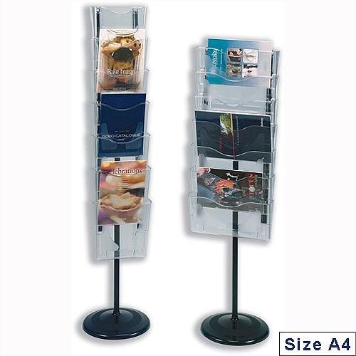 Deflecto Literature Hot File Floor Stand Unit Portrait 7 x A4 Pockets Crystal