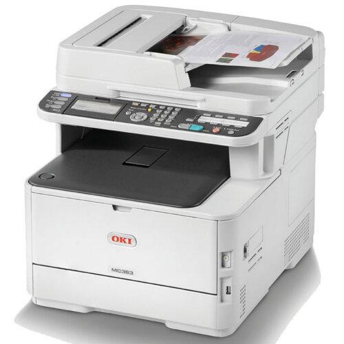 OKI MC363dnw A4 Colour LED Multifunction Printer Print/Scan/Copy/Fax 250 Sheet Tray - Legal (216 x 356 mm)/A4 (210 x 297 mm) (original) - A4/Legal (media) - up to 30 ppm (copying) - up to 30 ppm (printing) - 350 sheets - 33.6 Kbps - USB 2.0, Gigabit LAN,