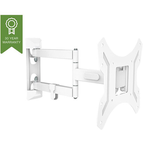 Vision VFM-WA2X2V2 - steel white display wall mount (adjustable arm)