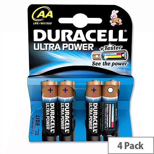 Duracell Ultra Power AA Alkaline Batteries (4 Pack) 75051955