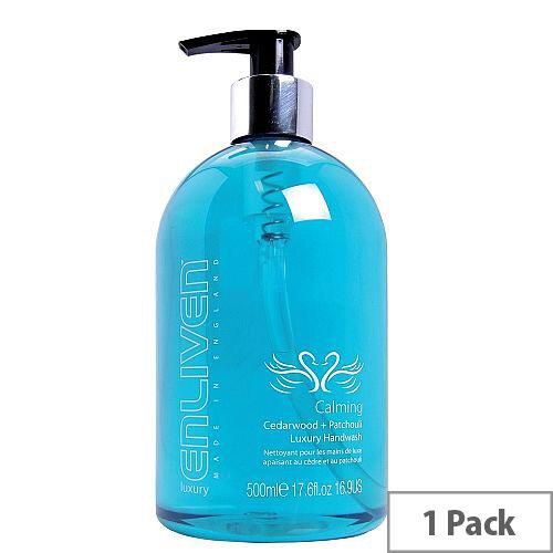 Enliven Luxury Handwash Liquid Soap Calming Cedarwood &Patchouli 500ml Pack 1