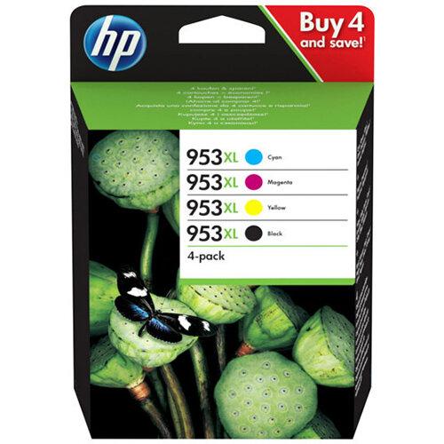HP 953XL - 4-pack - High Yield - black,yellow,cyan,magenta - original - ink cartridge