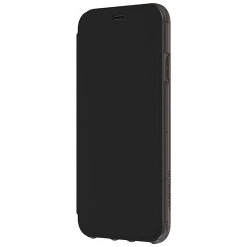 Griffin Survivor Clear Wallet - Black/Clear flip cover Apple iPhone XS