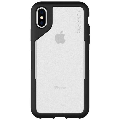 Griffin Survivor Endurance - Grey/Black back cover for mobile phone Apple iPhone XS