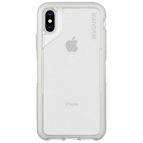 Griffin Survivor Endurance - Grey/Clear back cover for mobile phone Apple iPhone XS