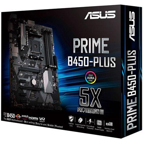 ASUS PRIME B450-PLUS - motherboard - ATX - Socket AM4 - AMD B450