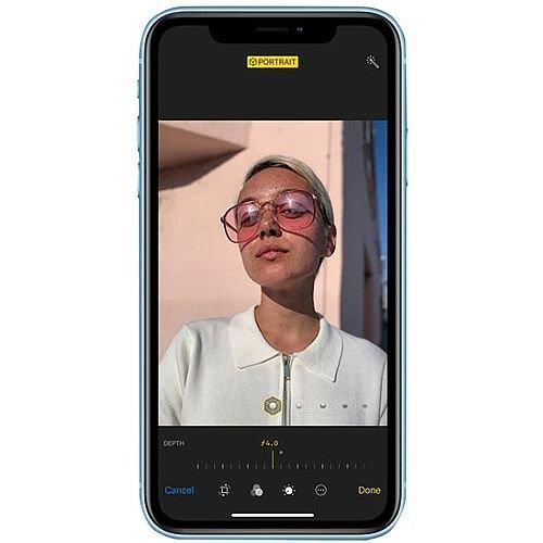 "Apple iPhone Xr Smartphone Blue, Dual-SIM Nano, 4G LTE Advanced, 128 GB Storage, 1 Day Talk Time Battery, 6.1"" Display (1792x828) Camera 12 MP (7 MP Front), Bluetooth 5"