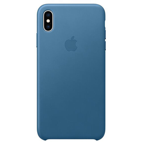 Apple - Leather back cover for mobile phone Apple iPhone XS Max in Cape Cod Blue