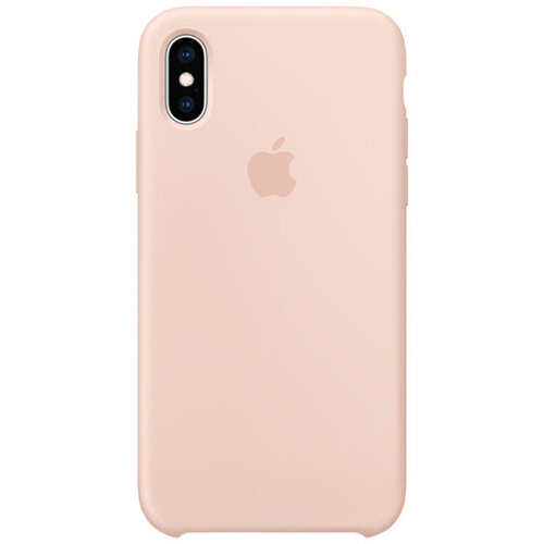 Apple - Silicone back cover for mobile phone Apple iPhone XS in Pink Sand