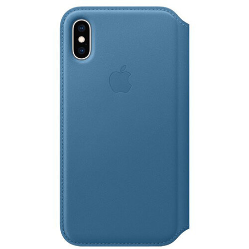Apple Folio - Leather flip cover for mobile phone Apple iPhone XS Cape Cod Blue
