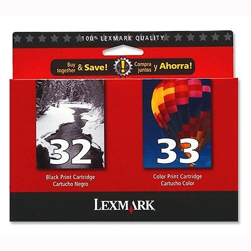 Lexmark 32 and 33 Black and Colour Ink Cartridges 80D2951