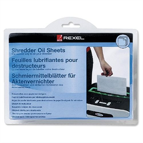 Rexel Shredder Oil Sheets in Envelope Pack 20