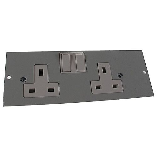 4 Compartment Screed Twin Switched Socket Outlet L/H